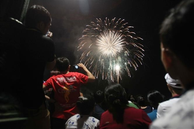 Fireworks across Vietnam kick off Year of the Rat hinh anh 4