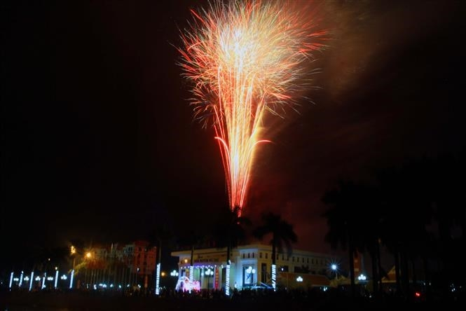 Fireworks across Vietnam kick off Year of the Rat hinh anh 9